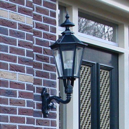 M31 væglampe | sekskantede smukke udendørs væglamper | støbejern | klassisk mørkegrøn | sort