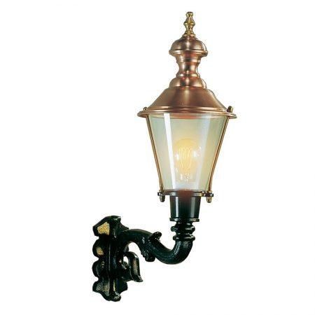 Væglampe Hoorn kobberlamper i klassisk stil, klassisk mørkegrøn, lille væglampe