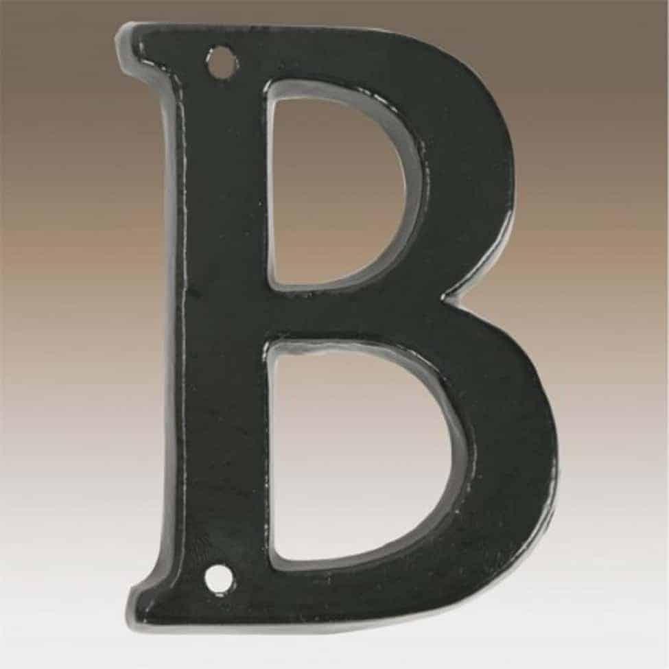 Husnummer B Klassiske tal og bogstaver til huset