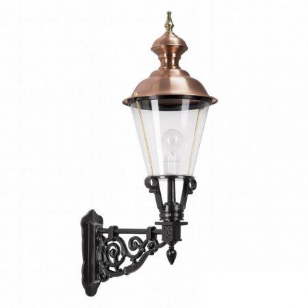 Væglampen Marken. klassiske lamper med kobbertop. Sekskanted, firkantede messinglamper