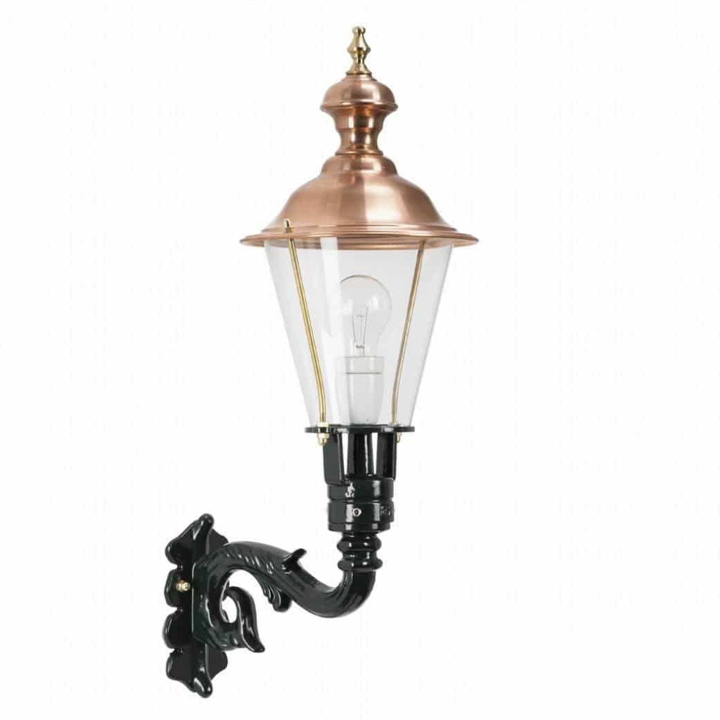 Kobberlame, væglampe, Schardam