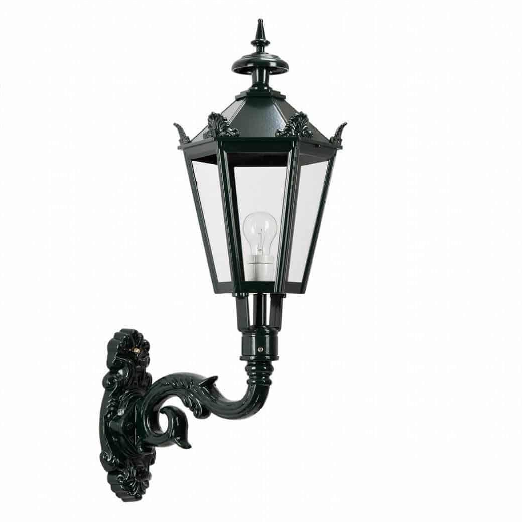 Væglampe M33 med kroner, væglampe | klassiske udendørslamper | klassisk mørkegrøn | sort væglampe