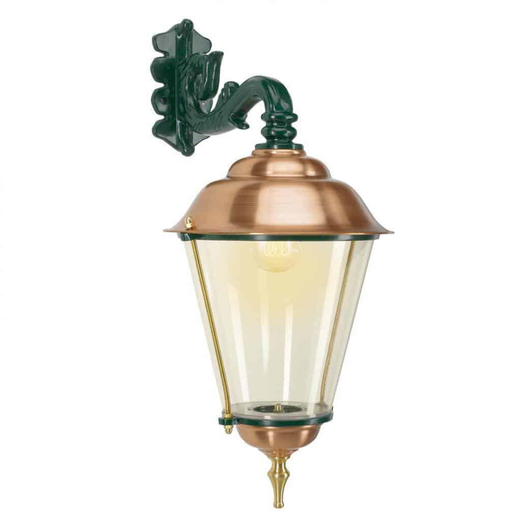 Hængelampe Schardam. Væglampe med kobber, kobbertop. Klassiske lamper, mørkegrøn