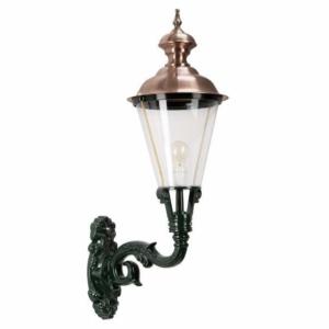 Væglampe Volendam med kobbertop. Klassiske lamper, kvalitetslamper Messing´lamer. Udendørs lamper