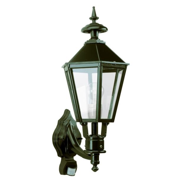 Bolton væglampe med sensor | sekskantet klassisk lampe | Mørkegrøn | sort