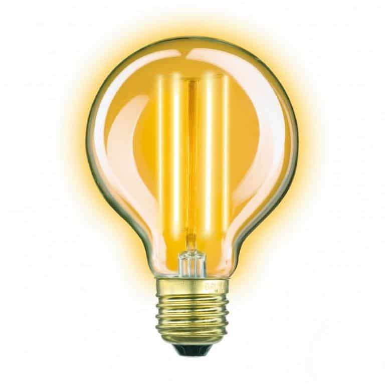 3856 Classic Gold globe LED 4W