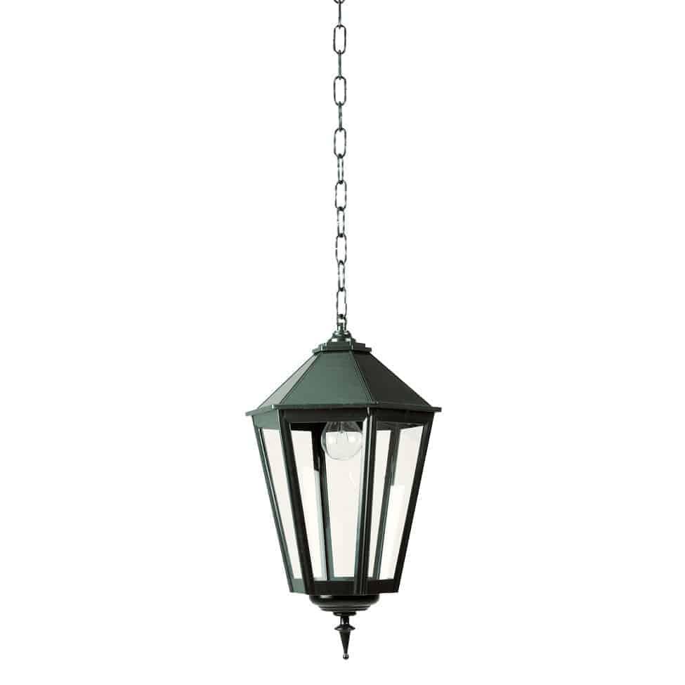 Sekskantet lampe i kæde | klassiske smukke lamper | herregårdsstil