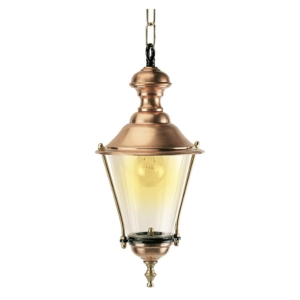 Kobberlamper i kæde. Klassiske lamper, kvalitetslamper