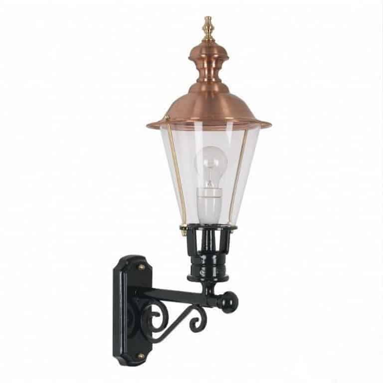 Væglampe Arnhem. Klassisk kobberlampe. Væglampe. Romantisk lampe