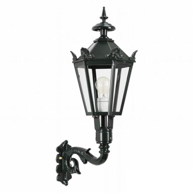 M39 med kroner væglampe | sekskantet udendørslampe | Klassik herregårdslampe