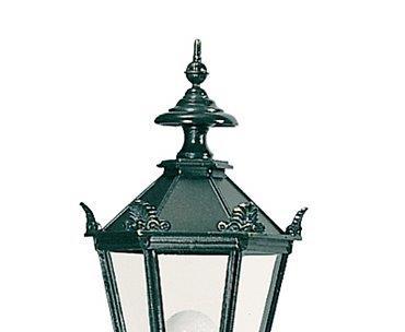 Kroner på sekskantede smukke klassiske lamper
