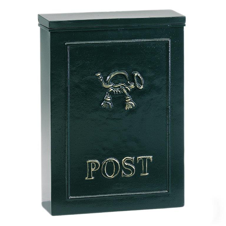 Postkasse B9A, væghængt. Engelske postkasser. Postkasser med detaljer